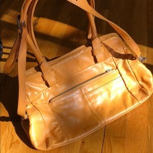 Foley+Corinna tan hand bag